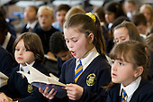 Years 3 & 4 choir practice, St Mary and St Michael Primary School, Stepney, Tower Hamlets, London
