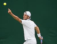 Adrian Ungar<br /> <br /> Tennis - The Championships Wimbledon  - Grand Slam -  All England Lawn Tennis Club  2013 -  Wimbledon - London - United Kingdom - Monday 24th June  2013. <br /> &copy; AMN Images, 8 Cedar Court, Somerset Road, London, SW19 5HU<br /> Tel - +44 7843383012<br /> mfrey@advantagemedianet.com<br /> www.amnimages.photoshelter.com<br /> www.advantagemedianet.com<br /> www.tennishead.net