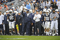 15 November 2008:  Penn State coaches Larry Johnson, Sr. and Tom Bradley yell from the sideline.  The Penn State Nittany Lions defeated the Indiana Hoosiers 34-7 at Beaver Stadium in State College, PA..