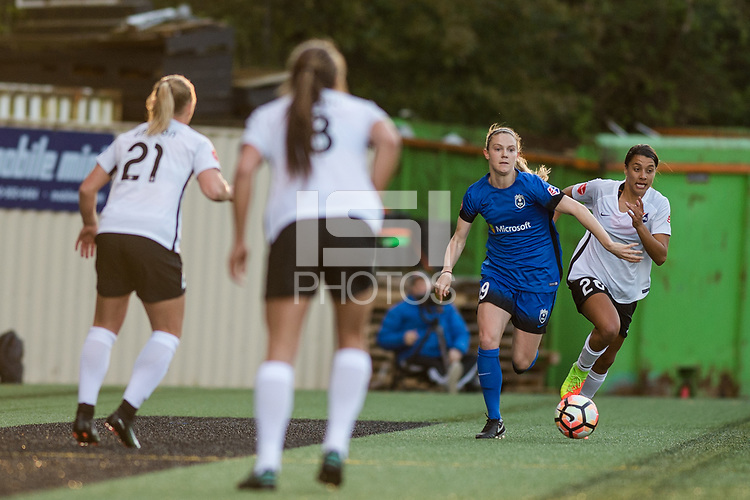 Seattle, WA - April 15th, 2017: Kristen McNabb during a regular season National Women's Soccer League (NWSL) match between the Seattle Reign FC and Sky Blue FC at Memorial Stadium.