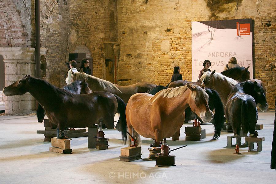 55th Art Biennale in Venice - The Encyclopedic Palace (Il Palazzo Enciclopedico).<br /> Arsenale Nord. Andorra Exhibition.<br /> Javier Balmaseda (Cuba). &quot;Fixed in contemporaneity&quot;, 2013.