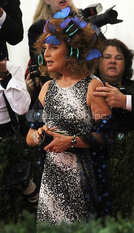 05 02 2016: Diane von Furstenberg at Manus X Machina: Fashion In An Age of Technology at Metropolitan Museum of Art in New York. Credit:RWMediaPunch