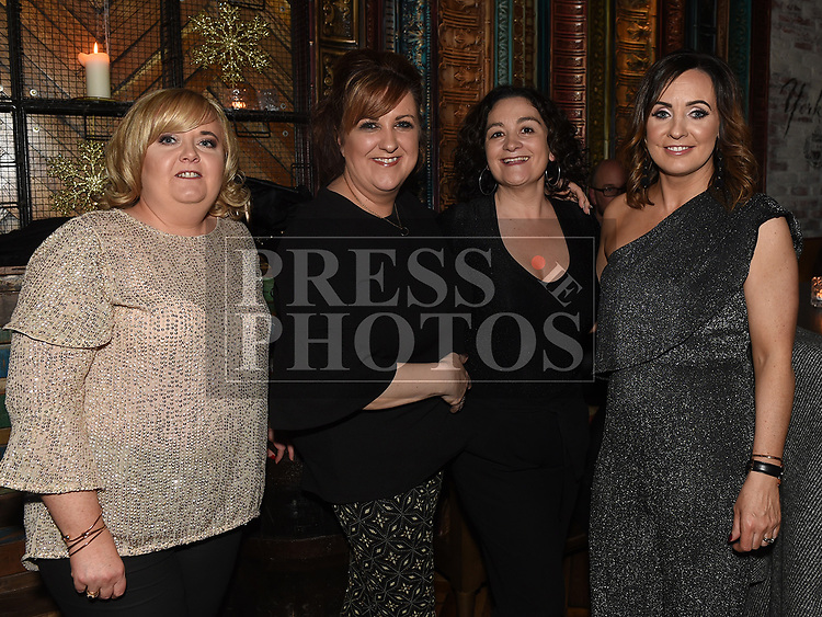Gillian Smith, Sue Reilly, Joy Fallon and Catherine Heeney enjoying the New year weekend in The Weavers. Photo:Colin Bell/pressphotos.ie