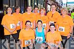 Running in the Killarney ladies mini marathon on Saturday was front row l-r: Helen Donnelly Currow, Brenda Doody Tralee, Tara Carmody Gneeveguilla. Back row: Aine Bullman Tralee, Pauline Campion Tralee, Aisling Mahon Dingle, Siobhain Leahy Dingle, Michelle Kavanagh Kenmare, Gerardina Harnett Killarney and Mary Hurley Tralee..