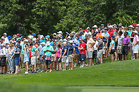 Bethesda, MD - July 2, 2017: The fans watching the action during final round of professional play at the Quicken Loans National Tournament at TPC Potomac  in Bethesda, MD, July 2, 2017.  (Photo by Elliott Brown/Media Images International)