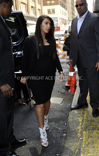 WWW.ACEPIXS.COM....April 22 2013, New York City....Kim Kardashian arrives at a midtown building on April 22 2013 in New York City......By Line: Curtis Means/ACE Pictures......ACE Pictures, Inc...tel: 646 769 0430..Email: info@acepixs.com..www.acepixs.com