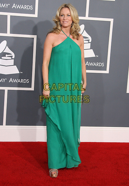 Deana Carter.The 54th Annual GRAMMY Awards held at the Staples Center, Los Angeles, California, USA..February 12th, 2012.full length green sleeveless dress .CAP/ADM.©AdMedia/Capital Pictures.