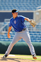 New York Mets pitcher Seth Lugo #38 during an intrasquad Instructional League game at City of Palms Park in Fort Myers, Florida;  October 3, 2011.  (Mike Janes/Four Seam Images)