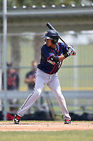 Minnesota Twins Engelb Vielma (7) during a minor league spring training game against the Baltimore Orioles on March 28, 2015 at the Buck O'Neil Complex in Sarasota, Florida.  (Mike Janes/Four Seam Images)