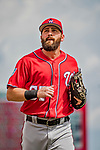 24 February 2019: Washington Nationals outfielder Hunter Jones arrives at the dugout prior to a Spring Training game against the St. Louis Cardinals at Roger Dean Stadium in Jupiter, Florida. The Nationals defeated the Cardinals 12-2 in Grapefruit League play. Mandatory Credit: Ed Wolfstein Photo *** RAW (NEF) Image File Available ***