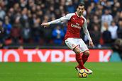 10th February 2018, Wembley Stadium, London England; EPL Premier League football, Tottenham Hotspur versus Arsenal; Henrikh Mkhitaryan of Arsenal