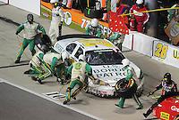 May 1, 2009; Richmond, VA, USA; NASCAR Nationwide Series driver Kenny Wallace pits during the Lipton Tea 250 at the Richmond International Raceway. Mandatory Credit: Mark J. Rebilas-