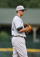 2007:  Chris Basak of the Scranton Wilkes-Barre Yankees, Class-AAA affiliate of the New York Yankees, during the International League baseball season.  Photo by Mike Janes/Four Seam Images