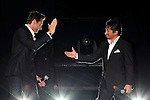 Hugh Jackman, Hiroyuki Sanada, Aug 28, 2013 : Actor Hugh Jackman, actor Hiroyuki Sanada attend 'The Wolverine' Japan Premiere at the Roppongi Hills on August 28, 2013 in Tokyo, Japan