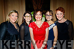 All smiles at the Bon Secure hospital, Tralee, Foundation night in the Ballygarry House Hotel, Tralee last Friday were L-R Justine O'Sullivan, Diane Bambury, Geraldine Riordan, Amy Cahill and Margaret O'Connor.