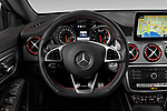 Car pictures of steering wheel view of a 2019 Mercedes Benz CLA-Coupe 45-AMG 4 Door Sedan Steering Wheel