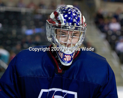 Jack Campbell (US - 1) - The US defeated the Czech Republic 6-2 on Thursday, April 16, 2009, at the Urban Plains Center in Fargo, North Dakota, during the 2009 World Under 18 Championship.