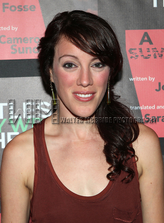 Samantha Soule attending the Opening Night Performance of The Rattlestick Playwrights Theater Production of 'A Summer Day' at the Cherry Lane Theatre on 10/25/2012 in New York.