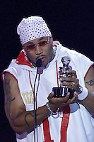 LL Cool J accepts his award at The Source Hip-Hop Music Awards 2001 at the Jackie Gleason Theater in Miami Beach, Florida.  8/20/01  Photo by Scott Gries/ImageDirect