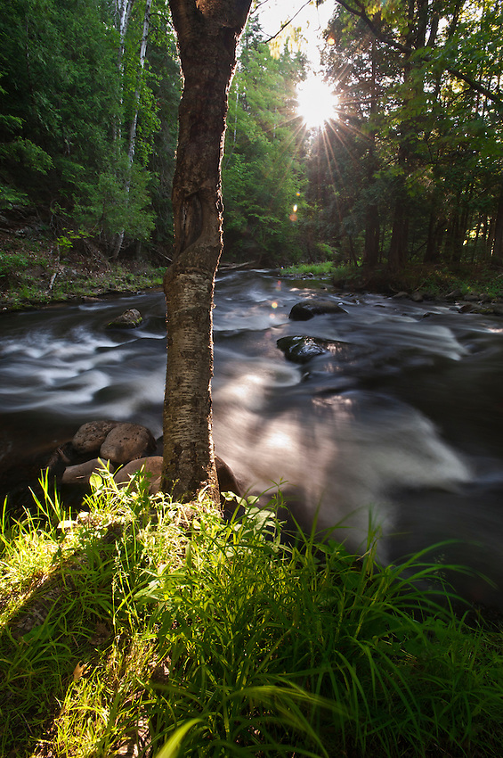 Dawn on the Carp River near Marquette in Michigan's Upper Peninsula.