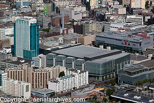 aerial photograph Intercontinental hotel Moscone WestSOMA San Francisco, California