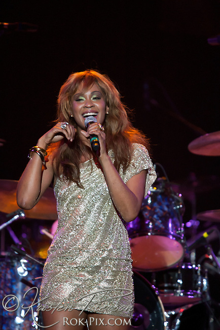 """Shontelle performs at the Zeiterion Theater for the Fun 107 """"Girls Night Out"""" concert on August 20, 2011"""