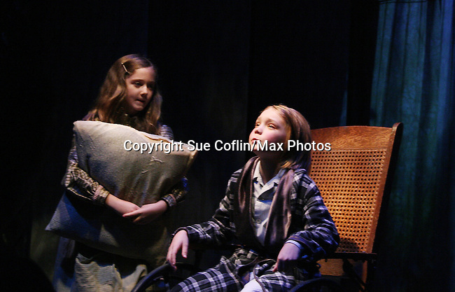 """Isabella Convertino """"Mary Lennox"""" and Charlie Plummer """"Colin Craven"""" as Philipstown Depot Theatre presents The Secret Garden on November 15, 2009 in Garrison, New York. The musical The Secret Garden is the story of """"Mary Lennox"""", a rich spoiled child who finds herself suddenly an orphan when cholera wipes out the entire Indian village where she was living with her parents. She is sent to live in England with her only surviving relative, an uncle who has lived an unhappy life since the death of his wife 10 years ago. """"Archibald's son Colin"""", has been ignored by his father who sees Colin only as the cause of his wife's death.This is essentially the story of three lost, unhappy souls who, together, learn how to live again while bringing Colin's mother's garden back to life. (Photo by Sue Coflin/Max Photos)........"""