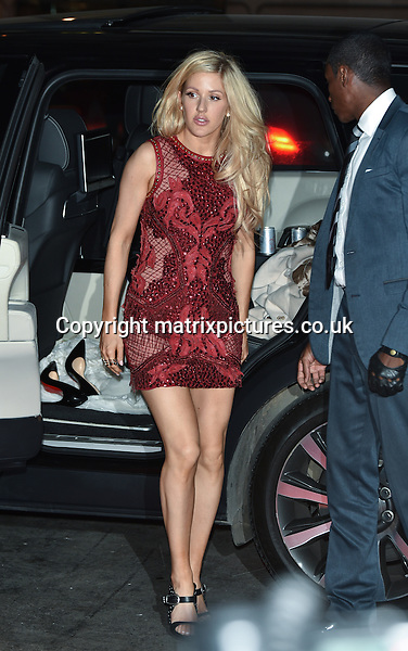 NON EXCLUSIVE PICTURE: MATRIXPICTURES.CO.UK<br /> PLEASE CREDIT ALL USES<br /> <br /> WORLD RIGHTS<br /> <br /> English singer Ellie Goulding attending The BRIT Awards 2015 Universal Music afterparty, at The Old Sorting Office in London. <br /> <br /> FEBRUARY 25th 2015<br /> <br /> REF: SLI 15637