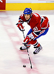 23 January 2010: Montreal Canadiens' center Scott Gomez leads a rush across center ice against the New York Rangers at the Bell Centre in Montreal, Quebec, Canada. The Canadiens shut out the Rangers 6-0. Mandatory Credit: Ed Wolfstein Photo