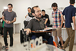 Politician Pablo Echenique-Robba during a Podemos party press conference in Madrid, Spain. July 24, 2015. (ALTERPHOTOS/Victor Blanco)
