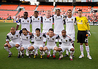 Real Salt Lake lines up before a U.S. Open Cup tournament game at RFK Stadium in Washington, DC.  D.C. United defeated Real Salt Lake, 2-1, in overtime.