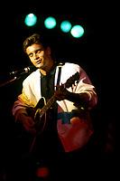 Montreal (Qc) CANADA - File Photo- July 1st 1986 -<br /> <br /> Singer Roch Vosine on Canada Day<br /> <br /> -Photo (c)  Images Distribution<br /> <br /> <br />  - PHOTO D'ARCHIVE :  Agence Quebec Presse