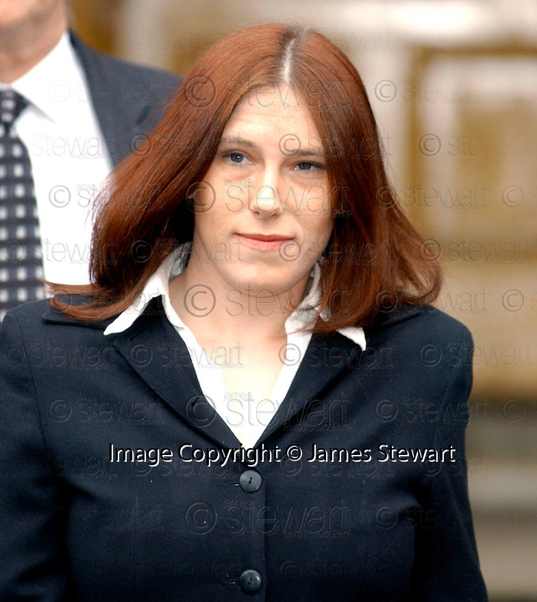 18/03/2004          Copyright Pic : James Stewart.File Name : jspa05_ferguson.LYNN SHOVELIN AT STIRLING SHERIFF COURT WHERE SHE GAVE EVIDENCE IN THE TRIAL OF TAYLOR FERGUSON, HAIRDRESSER TO THE STARS, WHO FACES CHARGES OF RECKLESSLY DISCHARGING A FIREARM NEAR A RIDING SCHOOL....(see copy from Tim Bugler)......James Stewart Photo Agency 19 Carronlea Drive, Falkirk. FK2 8DN      Vat Reg No. 607 6932 25.Office     : +44 (0)1324 570906     .Mobile  : +44 (0)7721 416997.Fax         :  +44 (0)1324 570906.E-mail  :  jim@jspa.co.uk.If you require further information then contact Jim Stewart on any of the numbers above.........