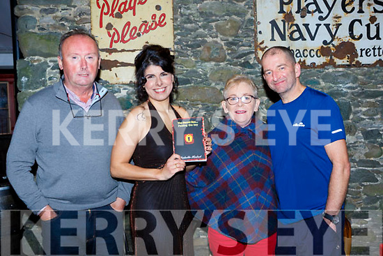 Michelle Hadad who launched her book The Secret Box... Finding the key in Reidys bar Killarney on Friday night l-r: John B Cronin, Michelle Hadad, Peggy O'Donoghue, and Mike Galvin