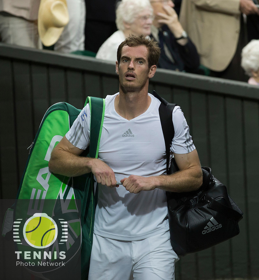 ANDY MURRAY (GBR)<br /> <br /> The Championships Wimbledon 2014 - The All England Lawn Tennis Club -  London - UK -  ATP - ITF - WTA-2014  - Grand Slam - Great Britain -  30th June 2014. <br /> <br /> © Tennis Photo Network