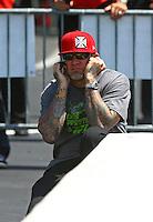 Jun. 2, 2013; Englishtown, NJ, USA: Jesse James husband of NHRA funny car driver Alexis DeJoria (not pictured) during the Summer Nationals at Raceway Park. Mandatory Credit: Mark J. Rebilas-