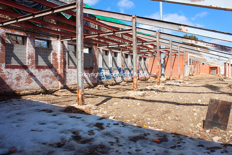 WATERBURY CT- MARCH 21 2014 032114DA02- Municipal Stadium in Waterbury  remains torn up and unplayable as a city's thoughts turn to outdoor sports. <br /> Darlene Douty Republican American