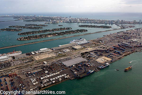 aerial photograph Port of Miami Florida