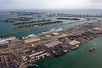 aerial photograph Port of Miami Florida