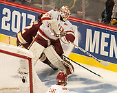 Tanner Jaillet (DU - 36) - The University of Denver Pioneers defeated the University of Minnesota Duluth Bulldogs 3-2 to win the national championship on Saturday, April 8, 2017, at the United Center in Chicago, Illinois.