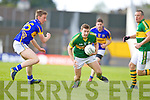 James O'Donoghue, Kerry in action against Timmy Daltonin the first round of the Munster Football Championship at Fitzgerald Stadium on Sunday.