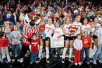 MADISON, WI - NOVEMBER 18: The Wisconsin Badgers volleyball team after the game against the Michigan Wolverines at the Fieldhouse on November 18, 2005 in Madison, Wisconsin. The Badgers beat the Wolverines 3-0. Photo by David Stluka.