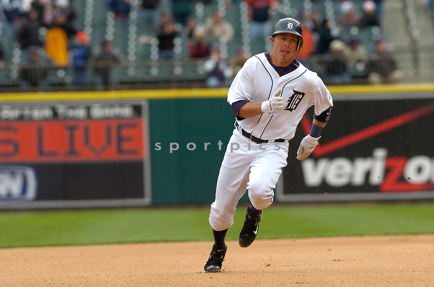 BRANDON INGE, of the Detroit Tigers during their game against the Toronto Blue Jays, on April 4, 2007 in Detroit, Michigan...Tigers win 10-9....DAVID DUROCHIK / SPORTPICS