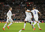 England's Danny Welbeck celebrates scoring his sides second goal<br /> <br /> - International European Qualifier - England vs Slovenia- Wembley Stadium - London - England - 15th November 2014  - Picture David Klein/Sportimage