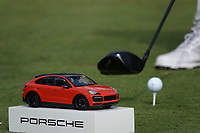 Tee marker during the second round of the Porsche European Open , Green Eagle Golf Club, Hamburg, Germany. 06/09/2019<br /> Picture: Golffile | Phil Inglis<br /> <br /> <br /> All photo usage must carry mandatory copyright credit (© Golffile | Phil Inglis)