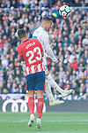 Real Madrid Lucas Vazquez and Atletico de Madrid Vitolo Machin during La Liga match between Real Madrid and Atletico de Madrid at Santiago Bernabeu Stadium in Madrid, Spain. April 08, 2018. (ALTERPHOTOS/Borja B.Hojas)