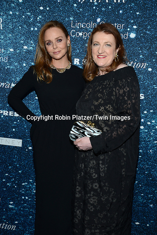 Stella McCartney and Glenda Bailey attend the Stella McCartney Honored by Lincoln Center at Gala on November 13, 2014 at Alice Tully Hall in New York City, USA. She was given the Women's Leadership Award which was presented bythe LIncoln Center for the Performing Arts' Corporate Fund.<br /> <br /> photo by Robin Platzer/Twin Images<br />  <br /> phone number 212-935-0770