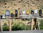 Mailboxes along US 93 along the Salmon River, Iron Creek, Idaho