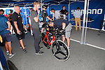 UCI Commisaires check the bikes during Stage 16 of the 2017 La Vuelta, an individual time trial running 40.2km from Circuito de Navarra to Logro&ntilde;o, Spain. 5th September 2017.<br /> Picture: Unipublic/&copy;photogomezsport | Cyclefile<br /> <br /> <br /> All photos usage must carry mandatory copyright credit (&copy; Cyclefile | Unipublic/&copy;photogomezsport)