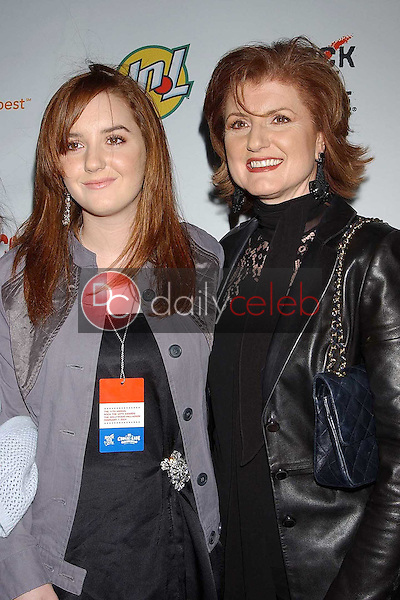 Arianna Huffington and daughter